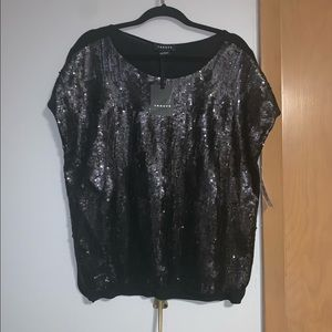 Trouve Black beaded top